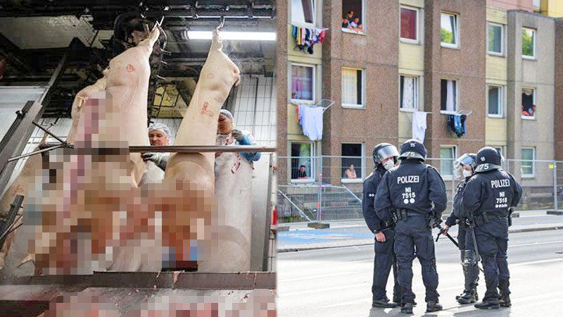 โควิด: โรงเชือดเยอรมันป่วยทะลุ 1,300 คน ส่งตร.คุมย่านพักอาศัย-กัก 700 ราย