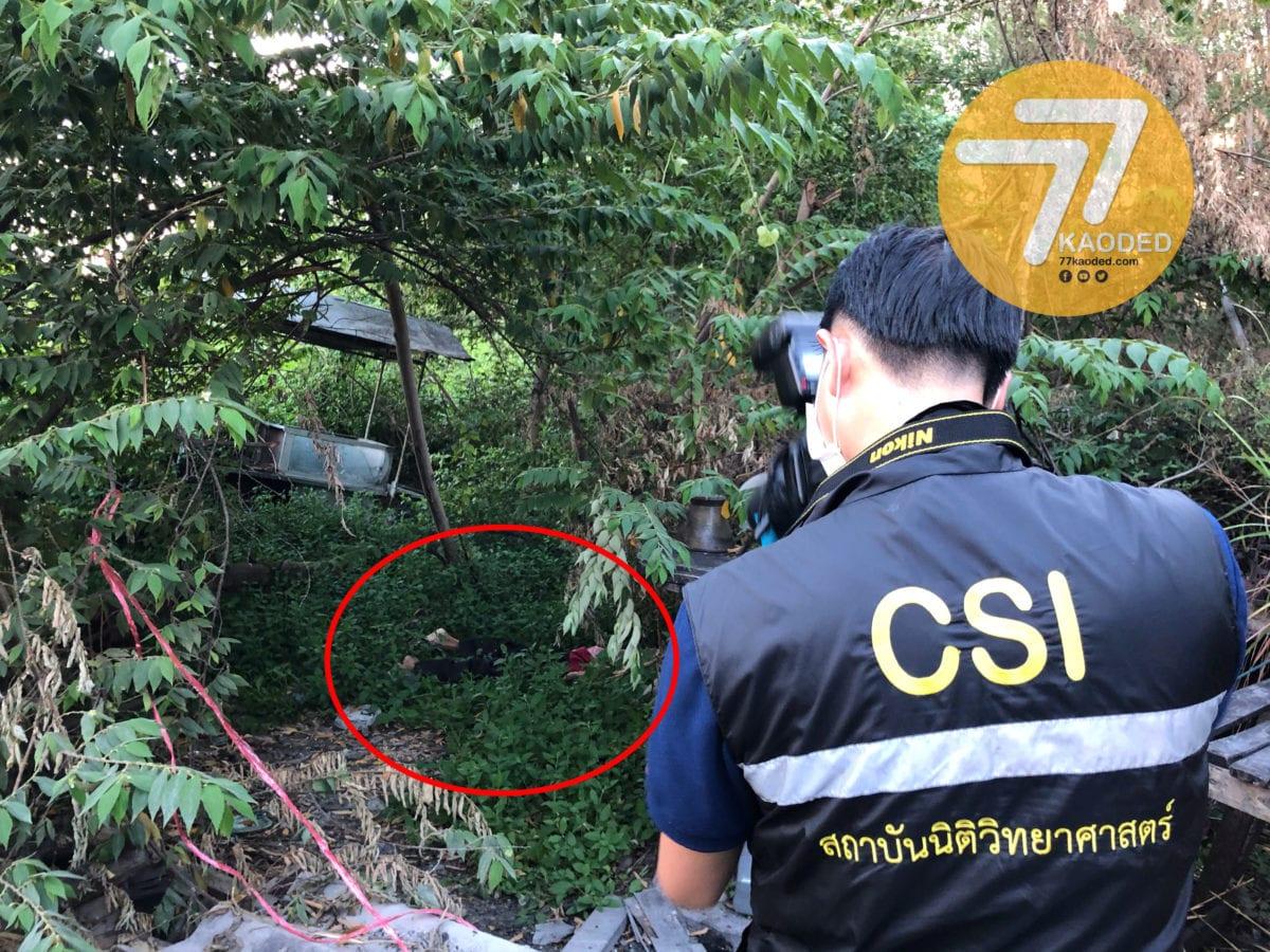 รปภ.หักดิบเหล้าพบกลายเป็นศพในป่าย่านนนทบุรี
