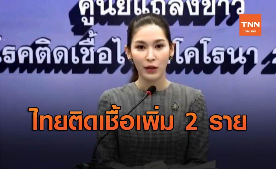 ศบค.เผยไทยติดเชื้อโควิด-19 รายใหม่ 2 ราย กลับจากต่างประเทศ