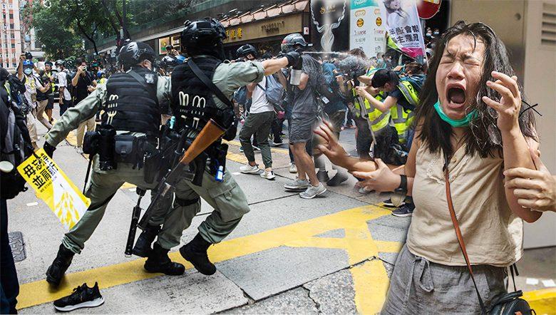 ปวดแสบทั้งกายใจ ผู้ชุมนุมฮ่องกงเจอพริกไทยสลายชุมนุม 23ปีผนวกจีน