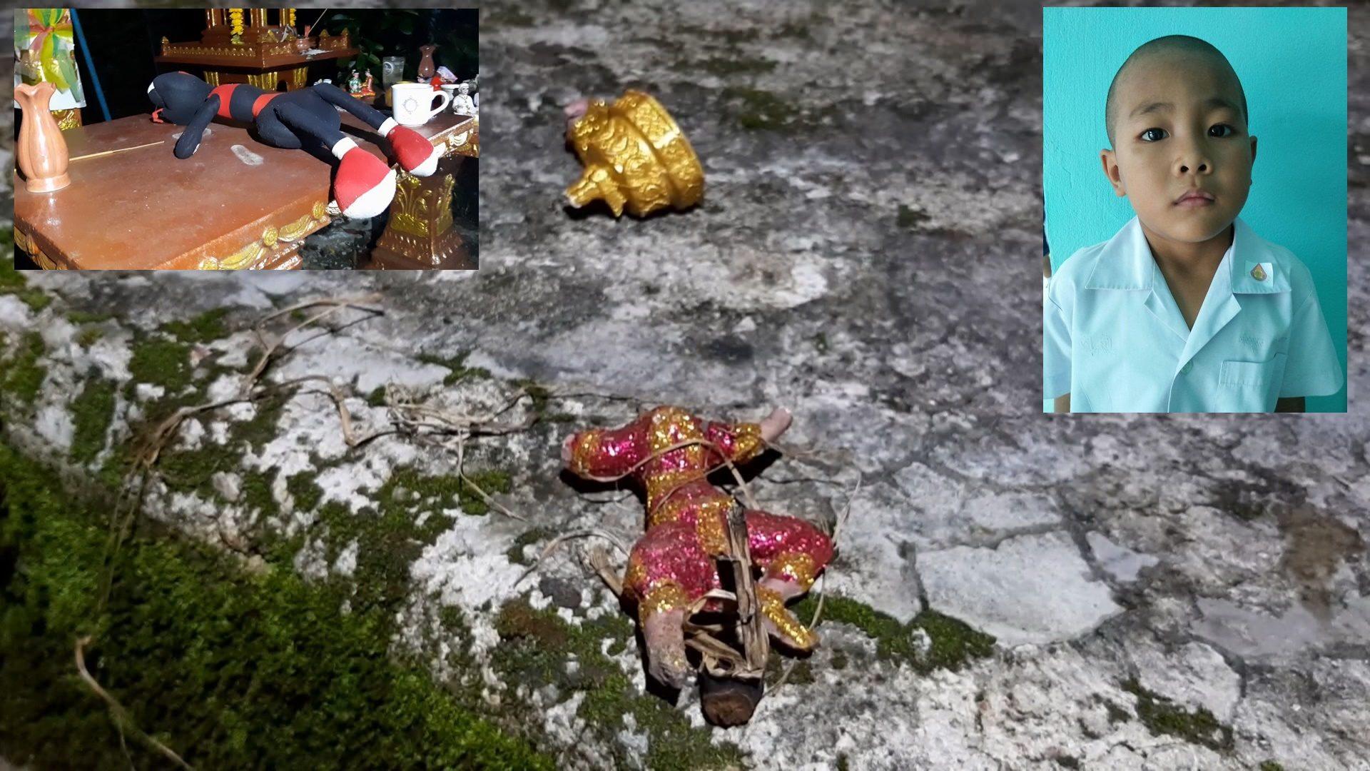 ผวาอาถรรพ์ หนูน้อย 6 ขวบ เดินหายออกจากบ้าน เจอตุ๊กตาตัวโปรดอยู่ใกล้รูปปั้นนางรำถูกหักคอ