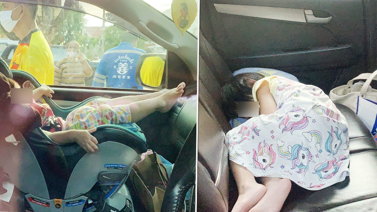 แม่ใจแป้ว ทิ้งลูกสาวรอในรถ หลับสนิทเรียกไม่ตื่น ร้อนกู้ภัยช่วย