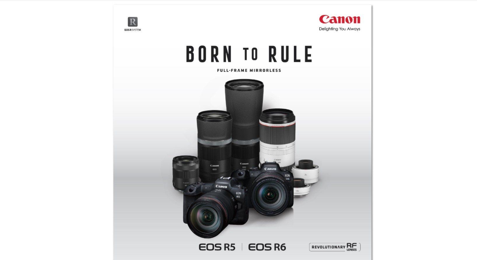 แคนนอน เปิดตัวเรือธงใหม่ สุดยอดกล้องมิเรอร์เลสฟูลเฟรม EOS R5 - EOS R6