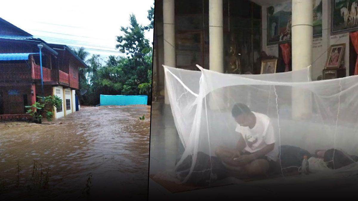 ได้ใจไปเต็มๆ ผู้ว่าฯเลย กางมุ้งนอนวัด เฝ้าสถานการณ์น้ำท่วม-ดูแลประชาชน