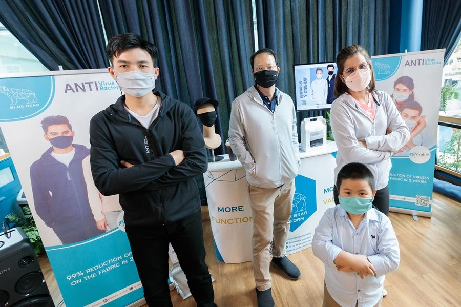 พาลาดินฯ พลิกธุรกิจรับวิกฤตโควิด ส่งBlue Bear เจาะตลาดหน้ากากผ้า-แจ็คเก็ต ลดไวรัส 99% ใน 2 ชม.