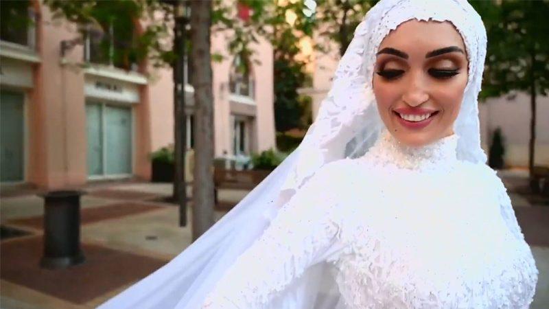 วิวาห์วันมหาวินาศที่เบรุต เปิดคลิปเจ้าสาวเลบานอน ถ่ายทำตอนระเบิด