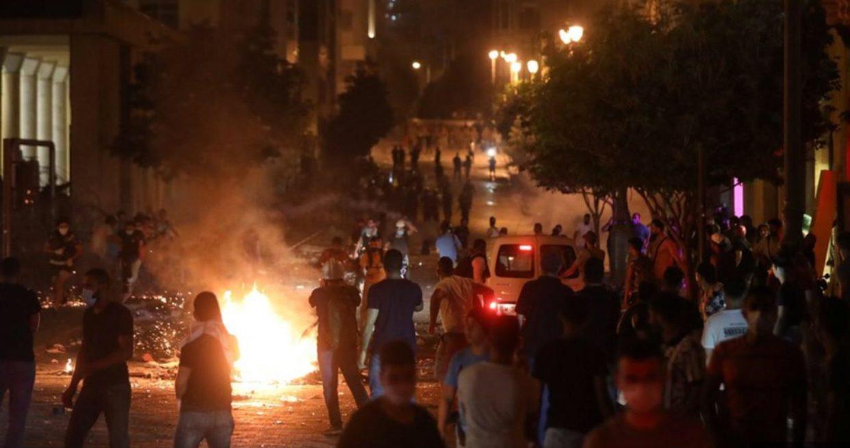 กลุ่มต้านรัฐบาลเลบานอนปะทะจนท. คุมตัว 16 รายสอบเหตุระเบิด