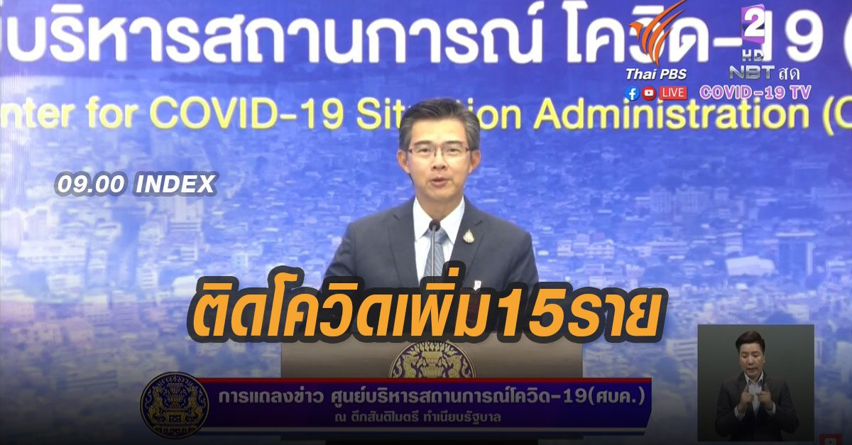ด่วน! โควิด-19 ใหม่ 15 รายเป็นชายไทยทุกราย กลับจาก 'อียิปต์-ซาอุฯ-ญี่ปุ่น'