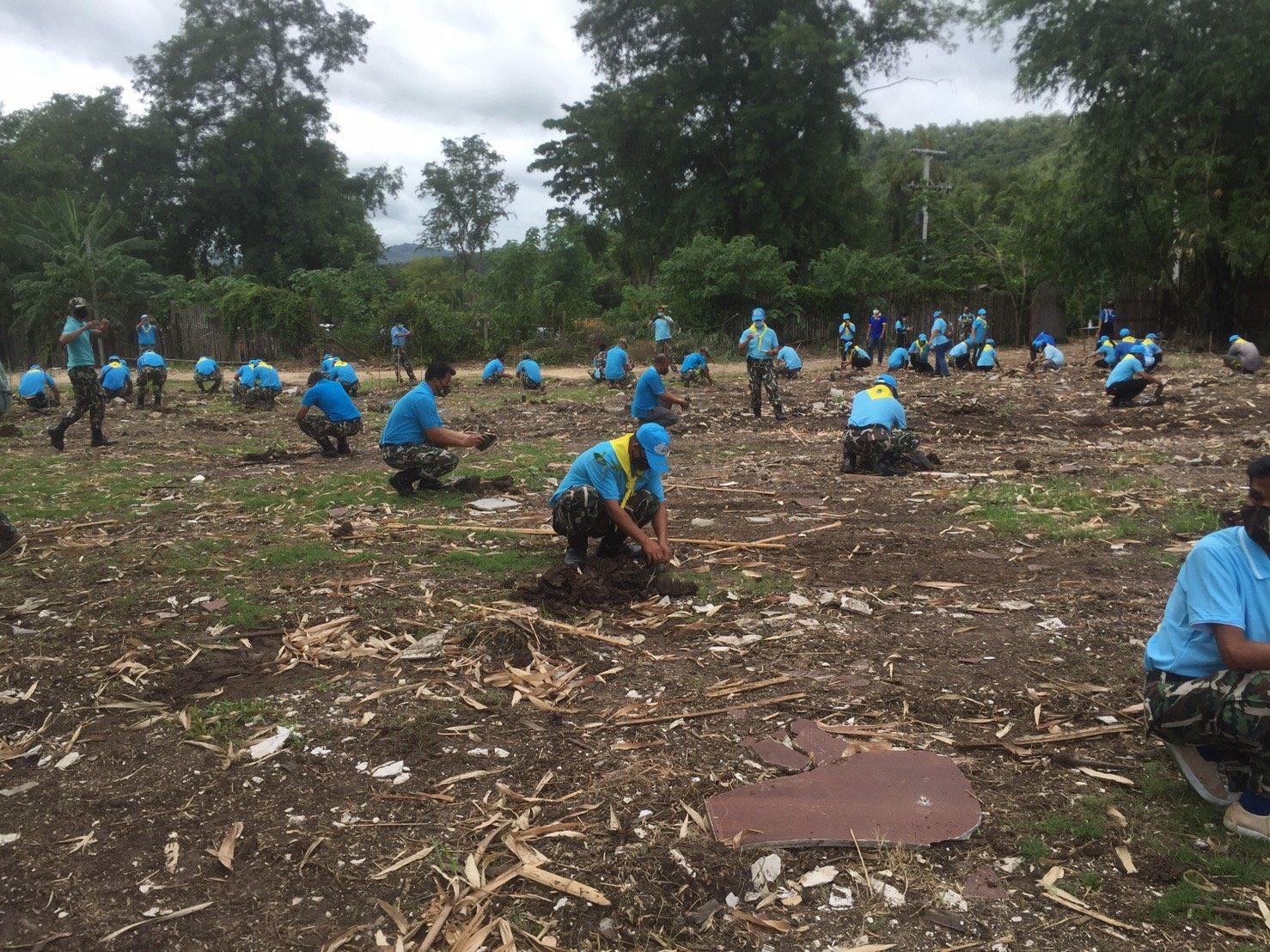 วันแม่แห่งชาติ กาญจนบุรีปลูกป่าในพื้นที่รีสอรท์ หลังนายทุนนครปฐมยอมรื้อ