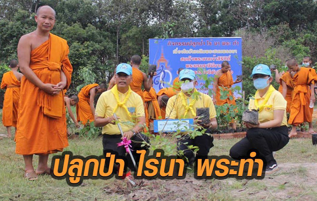 ผบก.ภ.จว.นครพนม เปิดกิจกรรม 'ปลูก ป่า ไร่ นา พระ ทำ'