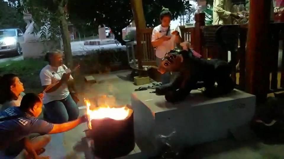 พะเยา ขอโชคกลางคืน!ชาวบ้านบูชาไฟแมง4หู5ตา คืนวันพระ ได้เลขเด็ด