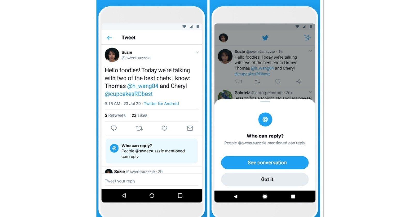 ทวิตเตอร์ เปิดตัวฟีเจอร์ใหม่ ตั้งค่าจำกัดผู้ตอบทวีตบทสนทนา