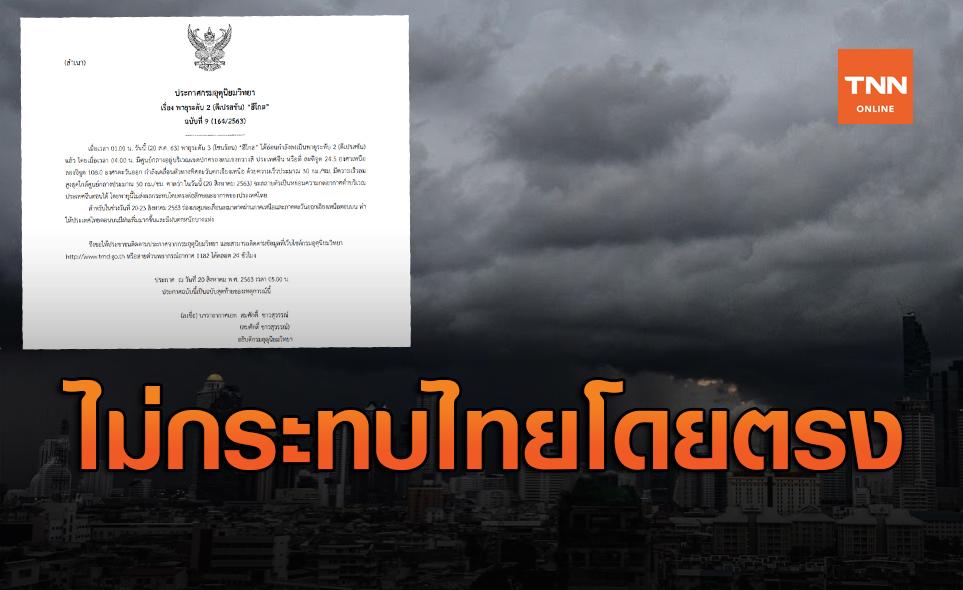 พายุโซนร้อนฮีโกส อ่อนกำลังลง ไม่ส่งผลกระทบโดยตรงต่อไทย