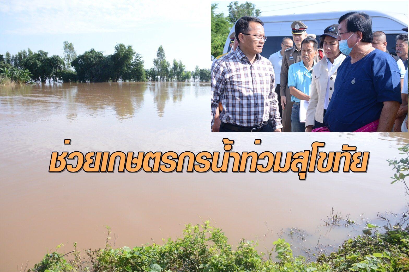 ประภัตร-สมศักดิ์ ลุย สุโขทัย ระดม ช่วยเกษตรกรประสบภัยน้ำท่วม