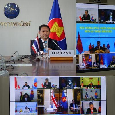 รัฐมนตรีการค้าอาเซียนหารือยูเค หลังเบร็กซิทครั้งแรก เล็งเยียวยาเศรษฐกิจ-ปฏิรูปWTO