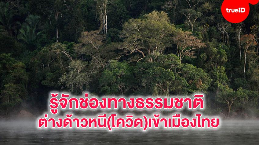 รู้จักช่องทางธรรมชาติ ต่างด้าวหนี(โควิด)เข้าเมืองไทย