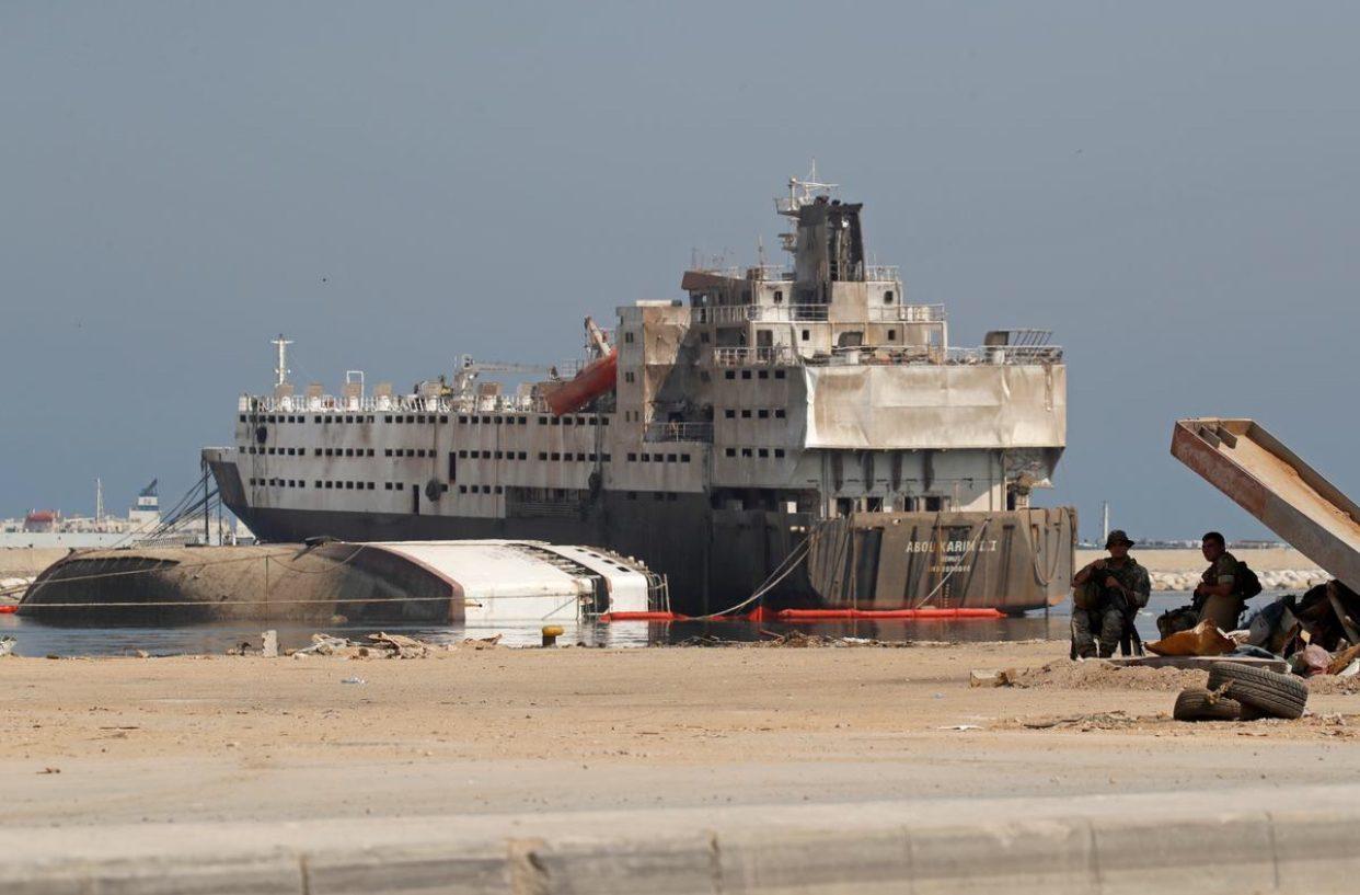 กองทัพเลบานอนพบสารเคมีที่ระเบิดได้ใกล้ท่าเรือเบรุตอีก 4.35 ตัน