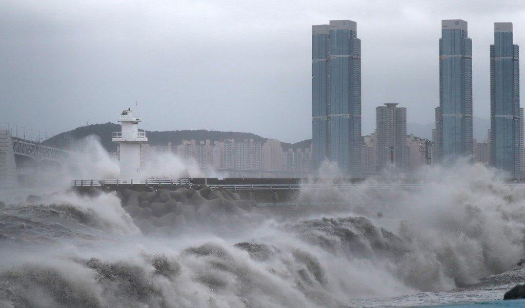 ไต้ฝุ่นไห่เฉินขึ้นฝั่งเกาหลีใต้แล้วด้วยแรงลมสูงสุด 126 กม./ชม.