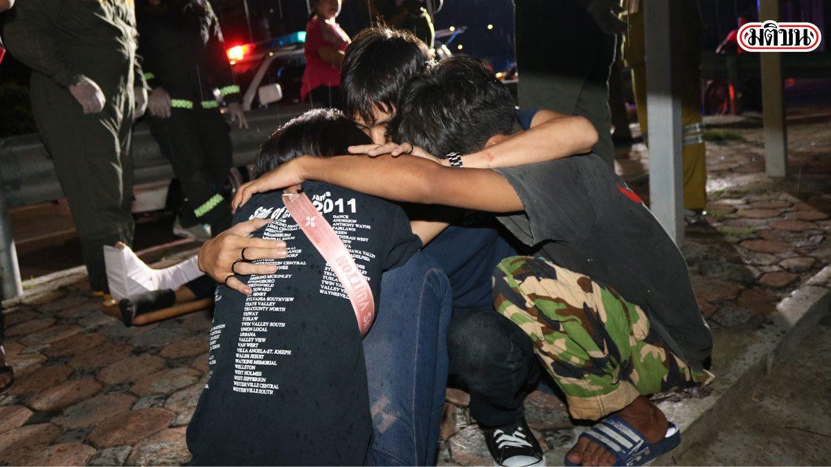 6 วัยรุ่นปทุมฯ ซิ่งจยย.แหกโค้งชนเหล็กกั้นตาย 1 เจ็บ 1 เพื่อนๆร่ำไห้เสียใจ