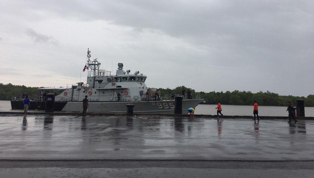 ทร.ส่งเรือ ต.995 ลาดตระเวนรอยต่อน่านน้ำไทย-มาเลย์ หลังเหตุไล่ชนเรือประมงไทย