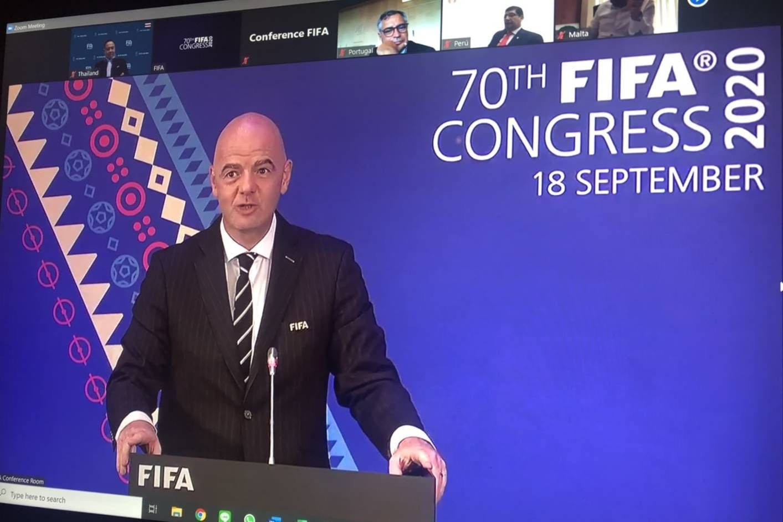 'ฟีฟ่า' ยกไทยต้นแบบจัดฟุตบอลช่วง 'โควิด-19' ในที่ประชุม 'ฟีฟ่า คองเกรส' (มีคลิป)