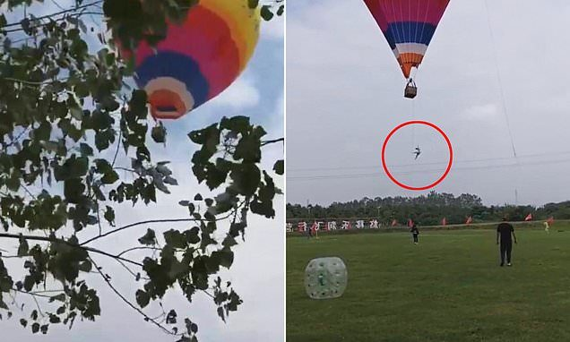 ร่วงจากบอลลูน 10 เมตร หนุ่มนักศึกษาจีนดับสลด เพิ่งทำงานพาร์ตไทม์วันแรก