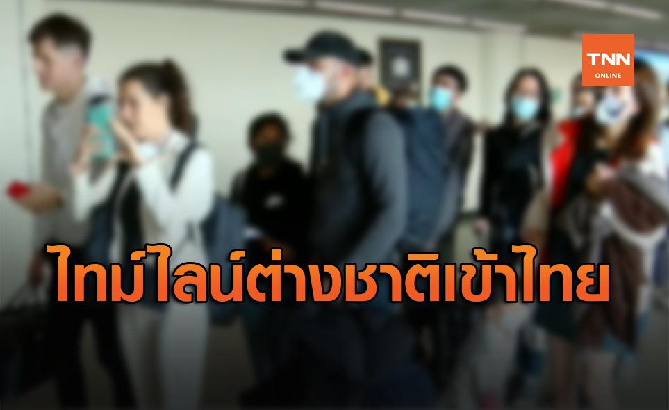 ไทม์ไลน์ใหม่! คาด 20 ต.ค. นักท่องเที่ยวต่างชาติเข้าไทยกลุ่มแรก