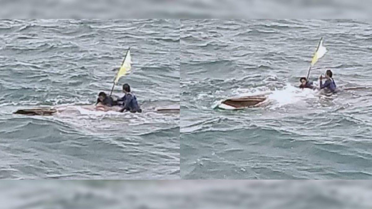 เรือหางยาว ล่มกลางทะเล ผู้โดยสาร-คนขับ เกาะท้องเรือ เอาชีวิตรอด