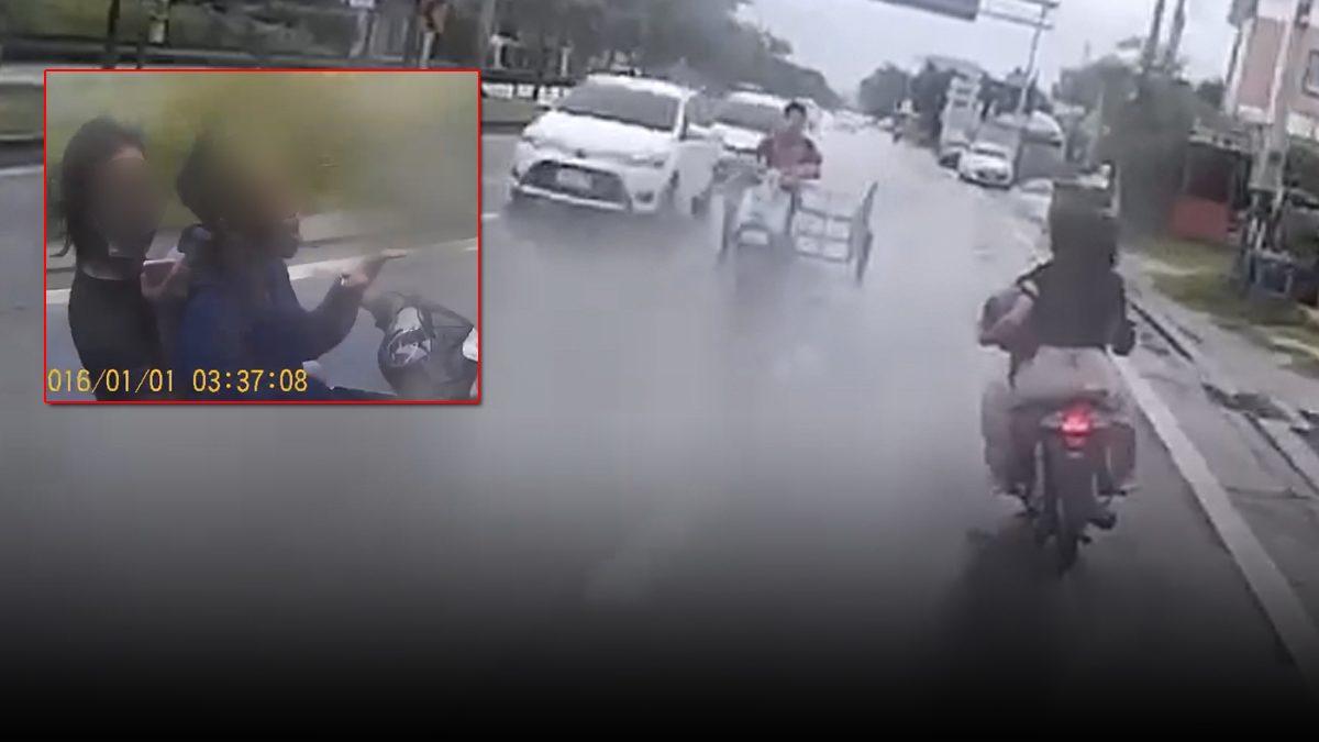 แก๊งแว้นกลัวตำรวจ ไม่กลัวตาย ย้อนศรบิดฝ่าฝนหนี จนมุมยกมือไหว้
