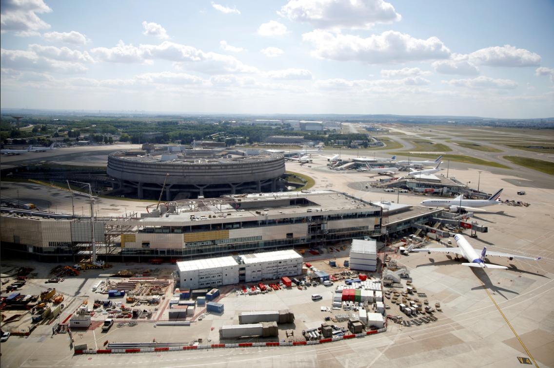 สนามบิน ปารีสชาร์ลส์เดอโกล แซงฮีทโธรว์ กลายเป็นสนามบินใหญ่สุดในยุโรป