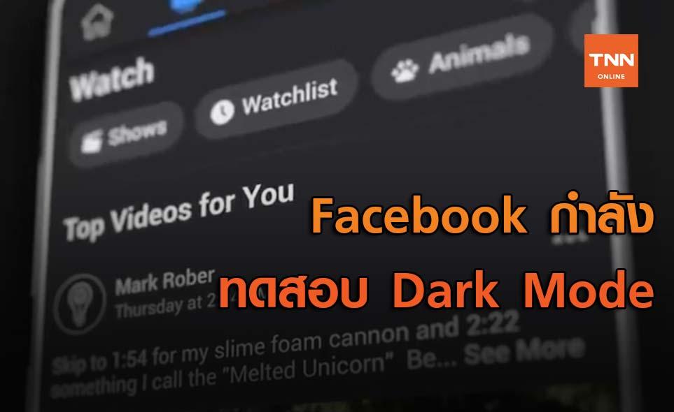 Facebook กำลังทดสอบ Dark Mode แบบสถานะบนแอปมือถือ
