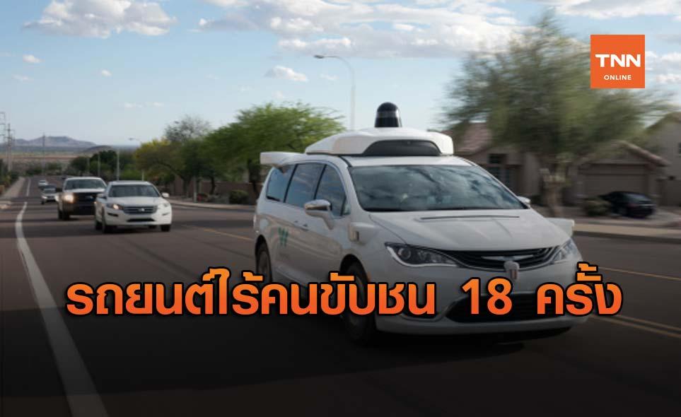 Waymo เผยสถิติรถยนต์ไร้คนขับ 10 ล้านกิโลเมตร อาจเกิดการชนเพียง 47 ครั้ง