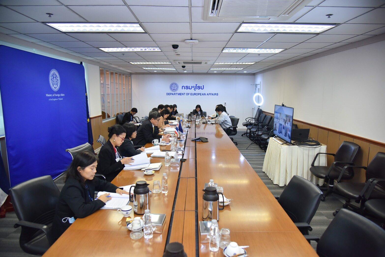 ประชุมจนท.ระดับสูงไทย-อียู ครั้งที่ 15 หารือความร่วมมือรอบด้าน เร่งคุยเอฟทีเอ-ลงนามพีซีเอ