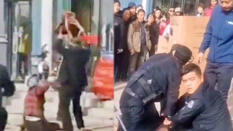 """หญิงจีนถูกสามี """"กระหน่ำตี"""" ดับสลดข้างถนน คนมุงเพียบแต่ไม่มีใครช่วย"""