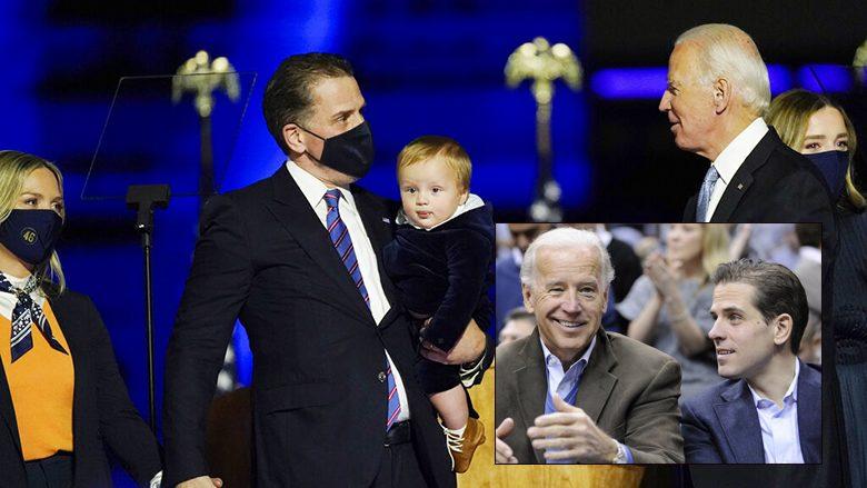 ไม่ต้องแอบแล้ว ลูกชายโจ ไบเดน ขึ้นเวทีฉลองชัยให้คุณพ่อ