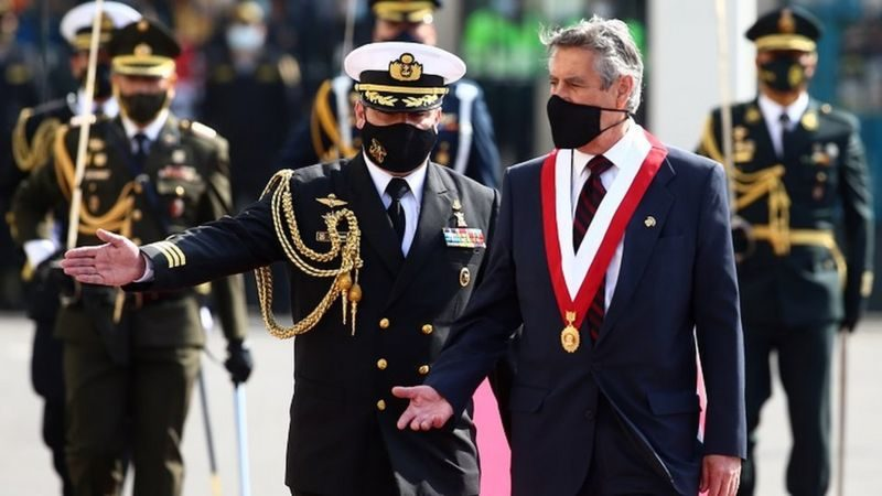รักษาปธน.เปรูสาบานตนรับตำแหน่ง ผู้นำประเทศคนที่ 3 ในรอบสัปดาห์เดียว