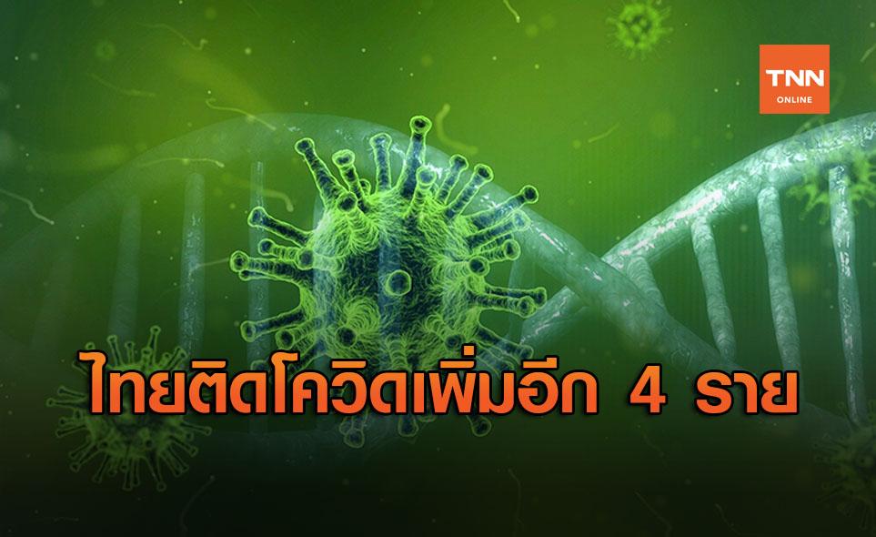 ศบค. รายงานไทยพบผู้ติดเชื้อโควิดรายใหม่ 4 ราย มาจากตปท.