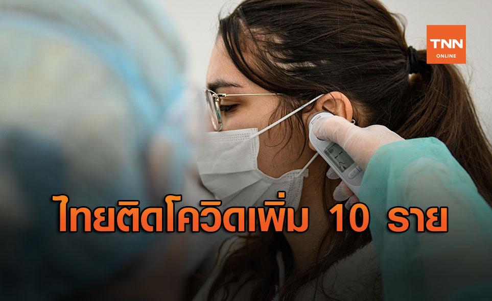 ศบค. รายงานไทยพบผู้ติดเชื้อโควิดรายใหม่ 10 ราย มาจากตปท.ทั้งหมด