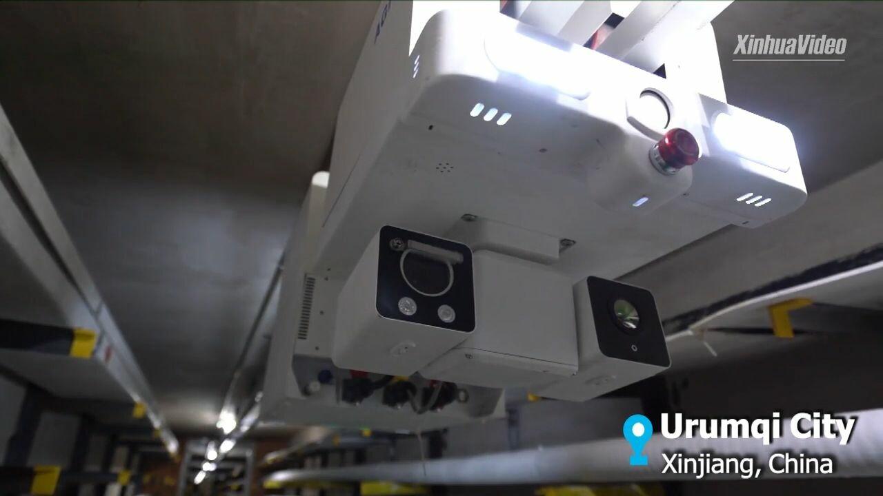 ทุ่นแรงคน-ลดอันตราย! จีนใช้งานหุ่นยนต์ตรวจสายเคเบิลใต้ดิน