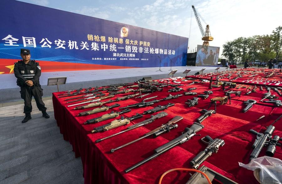 จีนรวบผู้ต้องสงสัย 18,000 ราย เอี่ยวคดีอาวุธ 'ปืน-ระเบิด'