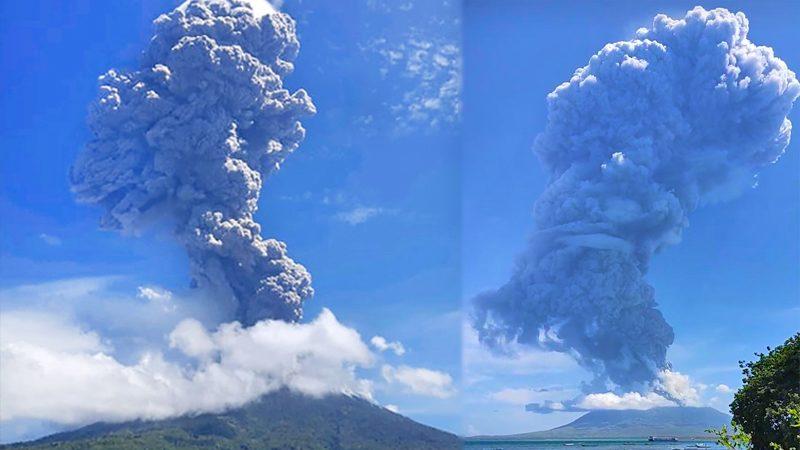 """หลายพันคน """"หนีตาย"""" ภูเขาไฟอินโดฯ พ่นเถ้าสูง 4 ก.ม. ผวาลาวาหลาก-ก๊าซพิษ"""