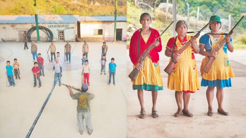 """ชาวบ้านสุดทน! ลุกฮือฝึกลูกหลาน-ผู้หญิง """"ยิงปืน"""" สู้วิกฤตแก๊งค้ายาป่วนจังโก้"""