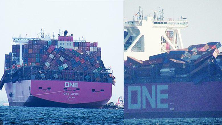คอนเทนเนอร์วินาศ เจอพายุแรงซัดเรือขนส่ง สูญตกทะเล 1,816 ตู้