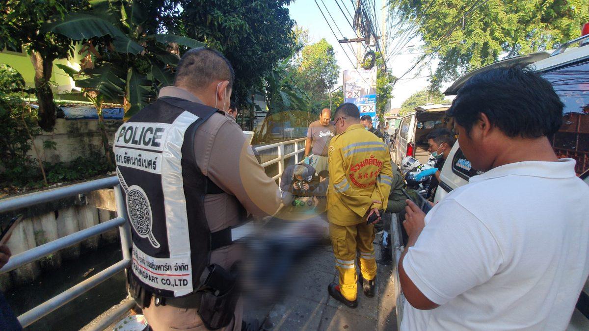 นนทบุรีพบร่างชายลอยน้ำดับปริศนาในคลองย่านชุมชนนนทบุรี