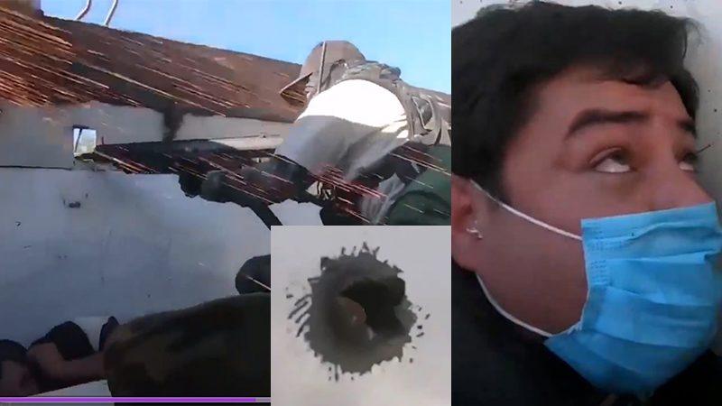 แก๊งยาจังโก้สาดกระสุน รถหุ้มเกราะฝ่ายต้านโจรยิงสวนดุ 2นักข่าวเสี่ยงตายรายงาน