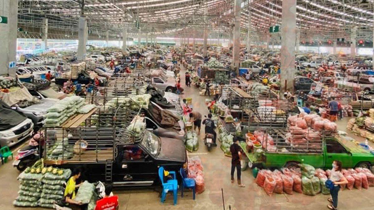 ตลาดสี่มุมเมือง ประกาศแจ้ง ผู้ค้า ห้ามขายอาหารทะเล-กุ้งทุกประภท ฝ่าฝืนโดนลงโทษ