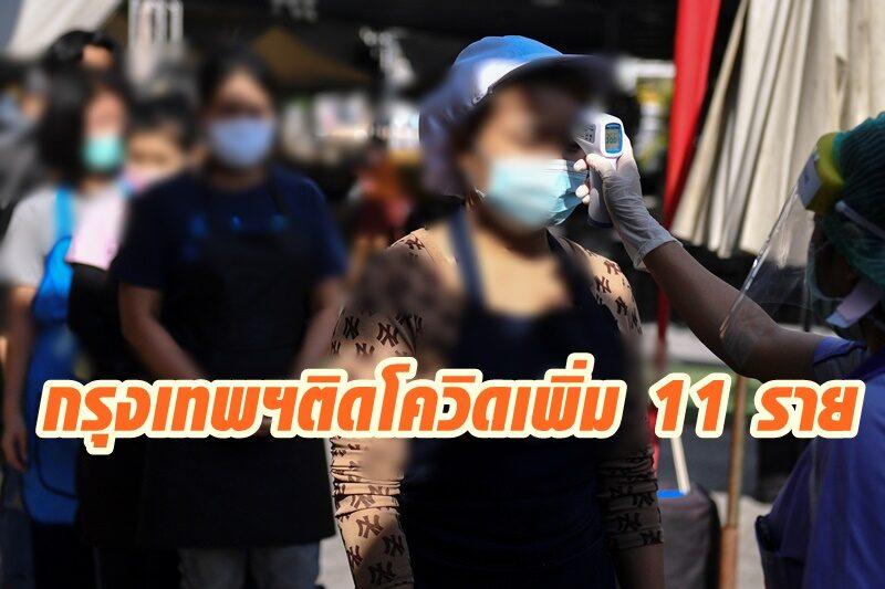 กรุงเทพฯพบป่วยโควิด-19 รอบใหม่ เพิ่มอีก 11 ราย รวมเป็น 20 รายแล้ว