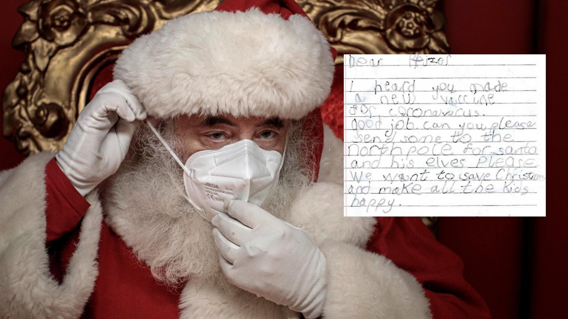 หนุ่มน้อยส่งจดหมายหาบริษัทยา ขอวัคซีนฉีดให้ซานต้า หวั่นกระจายเชื้อร้าย