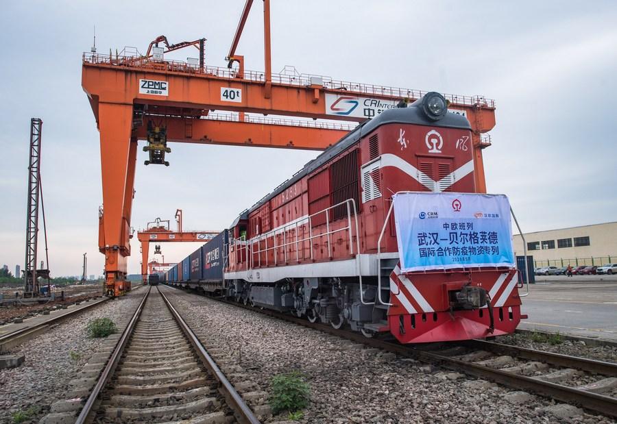 อู่ฮั่นขยายบริการ 'รถไฟสินค้าจีน-ยุโรป' เชื่อม 'มิลาน' ในอิตาลี