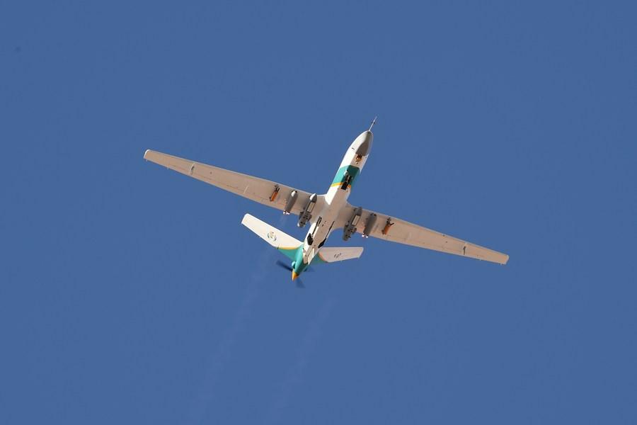 สำเร็จ! กานซู่ส่ง 'โดรนยักษ์' ทะยานบินทำฝนเทียมครั้งแรก
